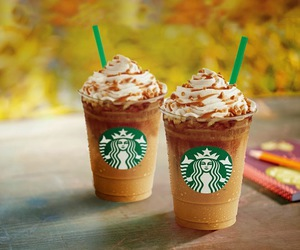 caramel and starbucks image