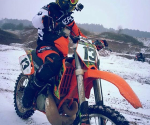 dirtbike, winter, and dangers image