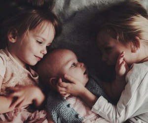 sisters, girl, and baby image