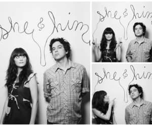 m ward, she & him, and zooey deschanel image