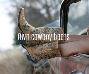 boots, cowboy, and done image