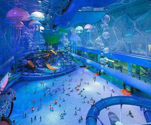 water, pool, and fun image