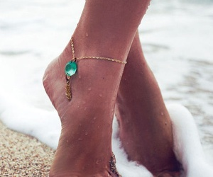 beach, summer, and feet image