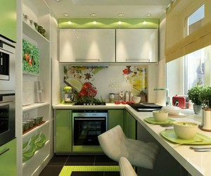 green, house, and kitchen image