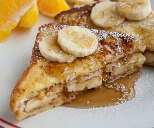 food, banana, and toast image