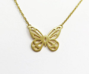 animal jewelry, wings necklace, and butterfly necklace image