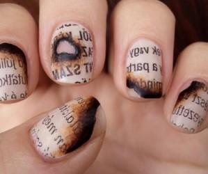 nails, nail art, and newspaper image