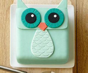 cake, owl, and cute image
