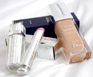 dior, makeup, and lipstick image