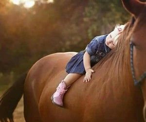 baby, horses, and style image