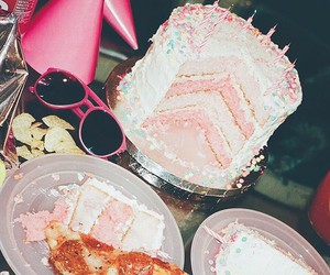 birthday, cake, and pink image