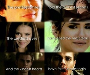 the vampire diaries, stefan, and elena image