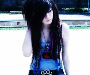 girl, emo, and cute image