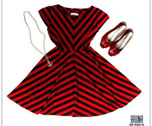 dresses, navy, and stripes image