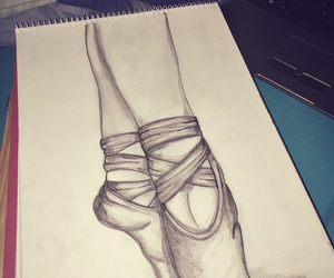 ballet, ballet shoes, and draw image