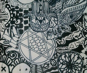 doodle, drawing, and dreamcatcher image