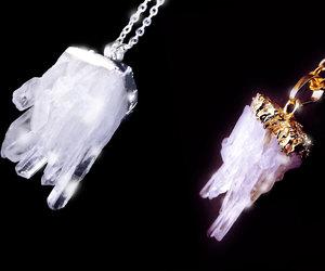 healing necklace, boho necklace, and quartz crystal necklace image