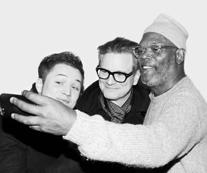 actor, Colin Firth, and selfie image