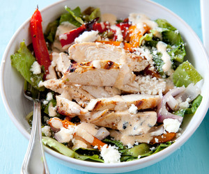 salad, Chicken, and food image
