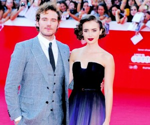 lily collins and sam clafin image