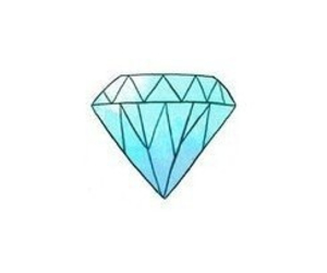 diamond, blue, and overlay image