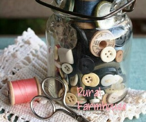 buttons, sewing, and vintage image
