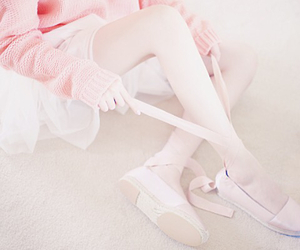girl, pink, and ballet image