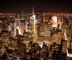 america, city, and light image