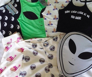 alien, clothes, and grunge image