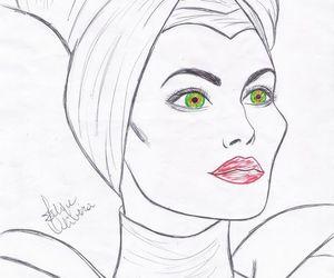 Angelina Jolie, art, and sketch image