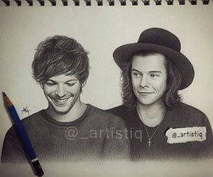 larry, louis tomlinson, and draw image