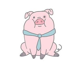 cute, overlay, and pig image