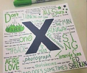 ed sheeran, x, and song image