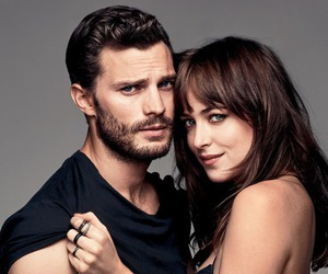 black, Jamie Dornan, and christian grey image