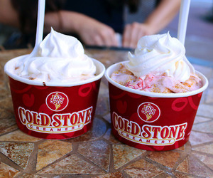 ice cream, summer, and cold stone image
