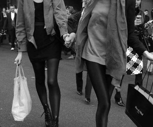 b&w, fashion, and girls image