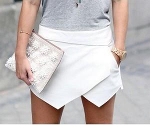 fashion, skirt, and white image