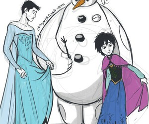 frozen, hiro, and olaf image