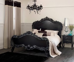 bedroom, gothic, and black image