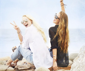 hair, peace, and jeans image