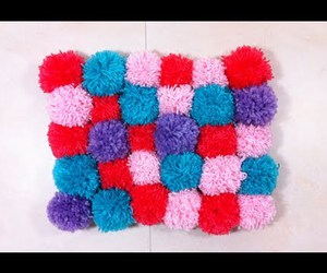 diy, pom pom, and rug image