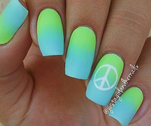 nails, green, and peace image