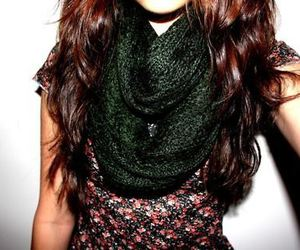 fashion, scarf, and girl image