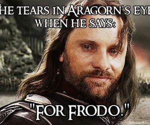 aragorn, frodo, and the lord of the rings image