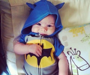 baby, cute, and batman image