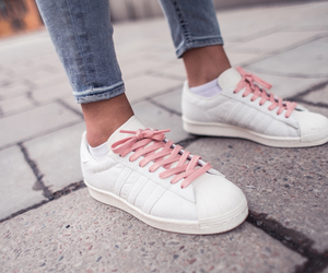 adidas, pink, and sneakers image