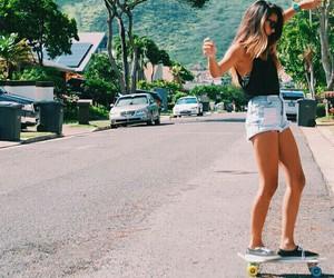 girl, summer, and skate image