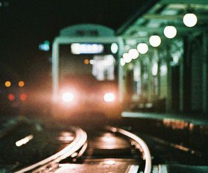 train, light, and hipster image