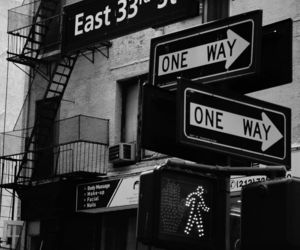 black and white and nyc image