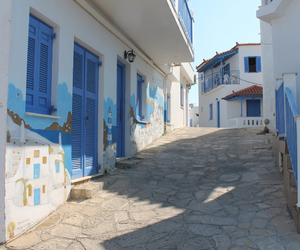 beautiful, blue, and crete image